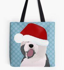 Happy New Year! Old Englash sheepdog Tote Bag