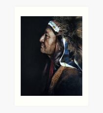 Two Moons, one of the Cheyenne chiefs who took part in the Battle of the Little Bighorn against the United States Army. 1910. Art Print