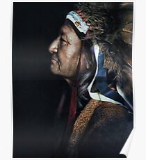 Two Moons, one of the Cheyenne chiefs who took part in the Battle of the Little Bighorn against the United States Army. 1910. Poster