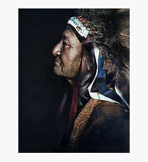 Two Moons, one of the Cheyenne chiefs who took part in the Battle of the Little Bighorn against the United States Army. 1910. Photographic Print