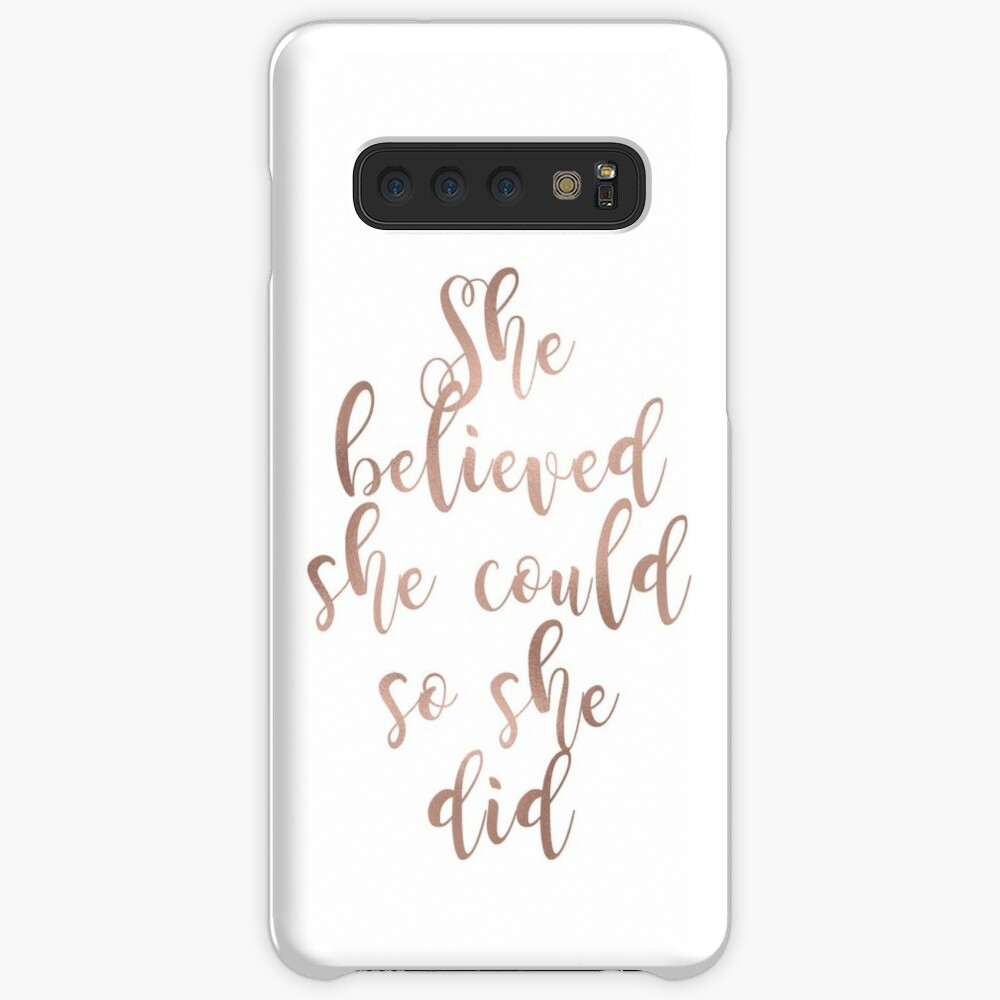 Rose gold she believed she could so she did Case & Skin for Samsung Galaxy