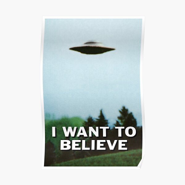 I Want To Believe original poster Poster
