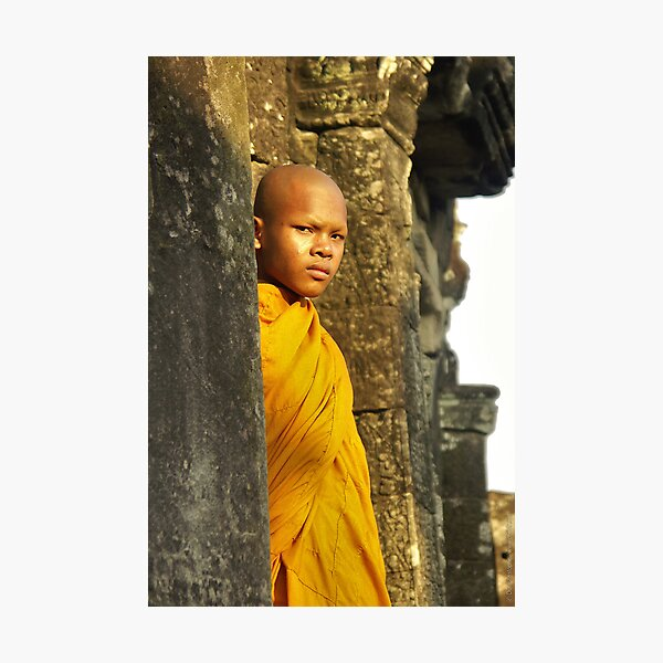 Young cambodian Monk Impression photo