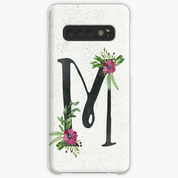 Monogram M with Floral Wreath Samsung Galaxy Snap Case
