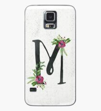 Monogram M with Floral Wreath Case/Skin for Samsung Galaxy