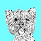 West Highland Terrier Dog Portrait by Adam Regester