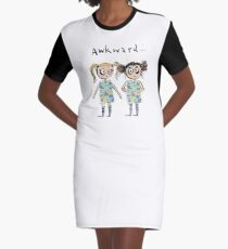 Awkward - like when you wear the same dress... Graphic T-Shirt Dress