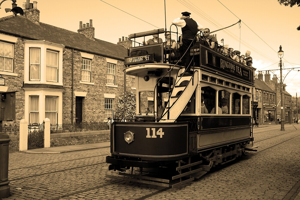 Times Gone By - The Tram by Dave Law