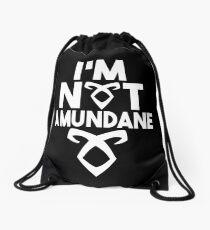 Not a mundane v2 Drawstring Bag