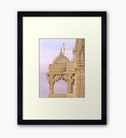 The Swaminarayan Mandir - Close-up Framed Print
