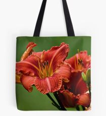 """""""Raging Wildfire"""" Daylily Tote Bag"""