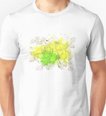 floral pattern spring yellow Unisex T-Shirt