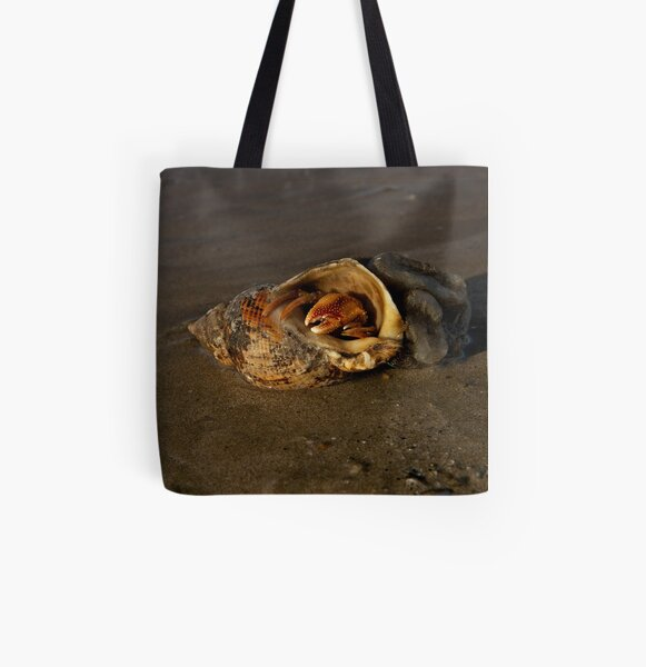 Hermit Crab on Fahan Beach All Over Print Tote Bag