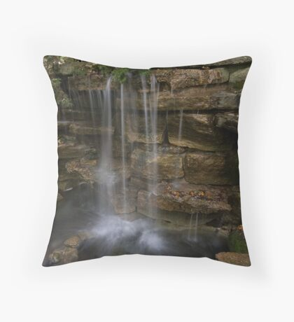 Old Mill Waterfall Throw Pillow