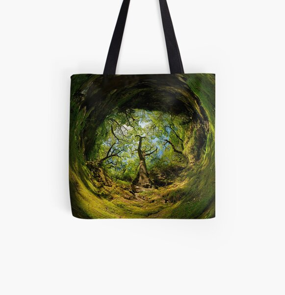 Ness Glen, Mystical Irish Wood All Over Print Tote Bag