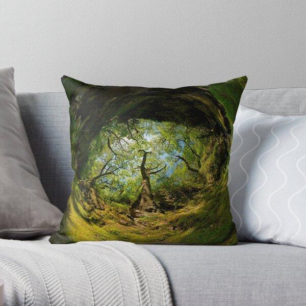 Ness Glen, Mystical Irish Wood Throw Pillow