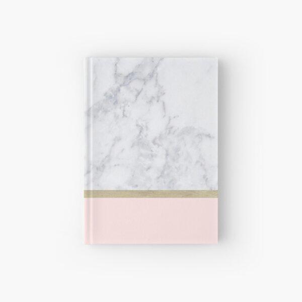 Marble Gold Blush Pink Pattern Hardcover Journal