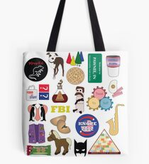Parks and Rec Flatlay Tote Bag