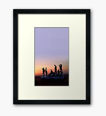 BTS SUNSET Framed Print