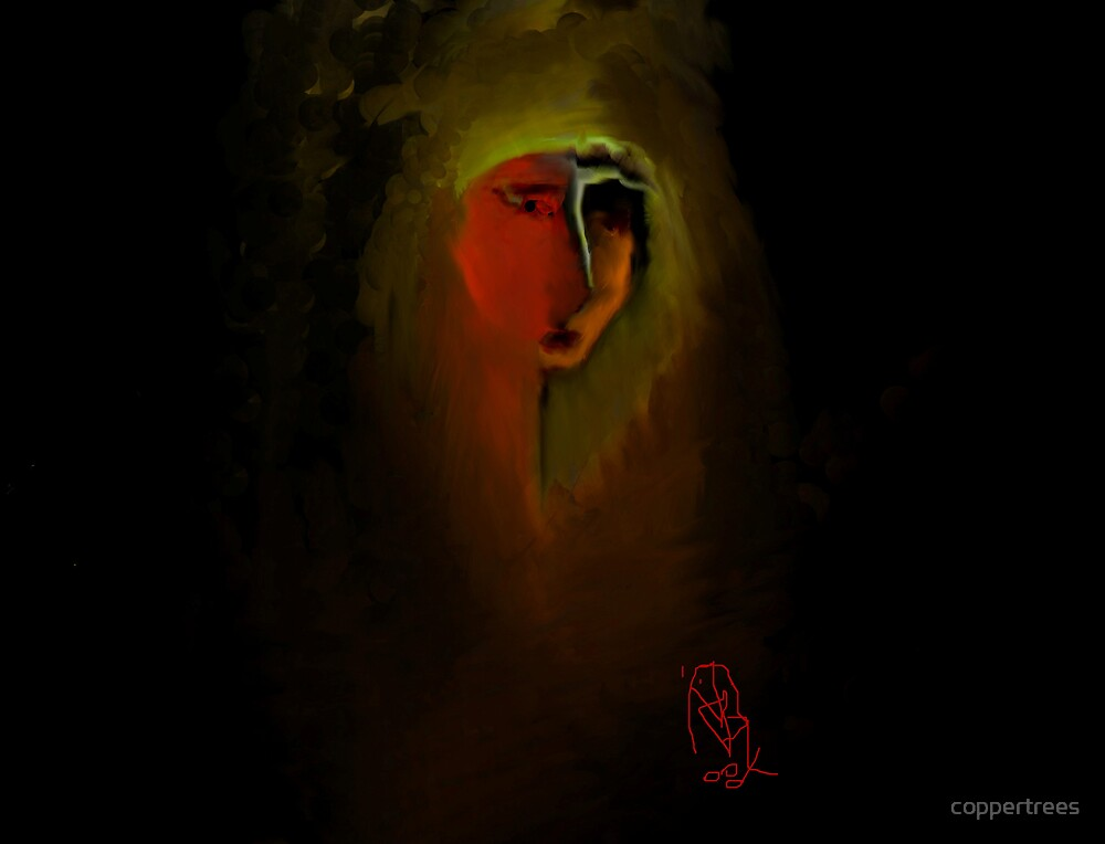 Face in the Dark by coppertrees