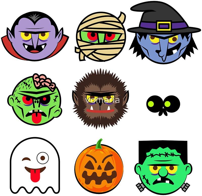 MONSTER FACES Halloween Emoji Shirt Skeleton Dracula Costume ...