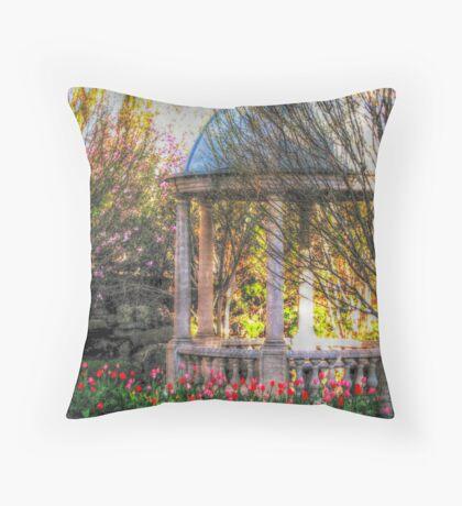 Stone Gazebo in the Venetian Gardens Throw Pillow
