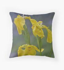 Yellow Flag Iris - Donegal Throw Pillow