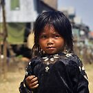 Little girl with black dress by Christophe Dur
