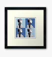 Mia Warhol Blue Framed Print