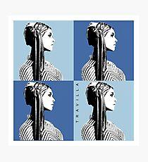 Mia Warhol Blue Photographic Print