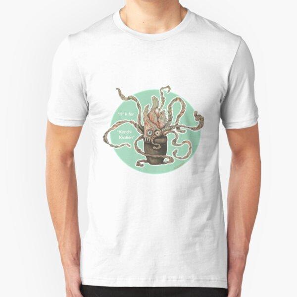 K is for Kimchi Kraken Slim Fit T-Shirt