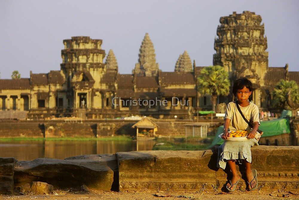 Girl who selling cakes - Cambodia by Christophe Dur