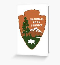 national park service logo Greeting Card