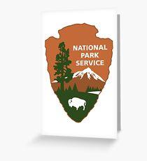Nationalpark-Service-Logo Grußkarte