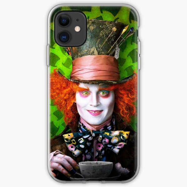 Mad Hatter from Alice in wonderland iPhone Soft Case
