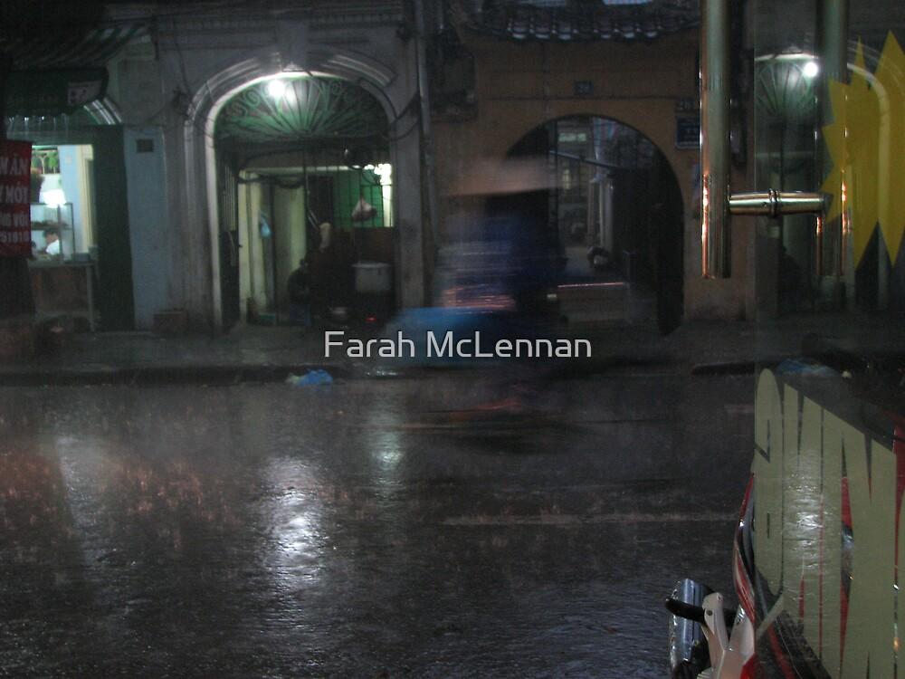 Runing from rain by Farah McLennan