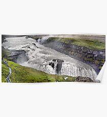 Gullfoss Waterfall, Iceland Poster