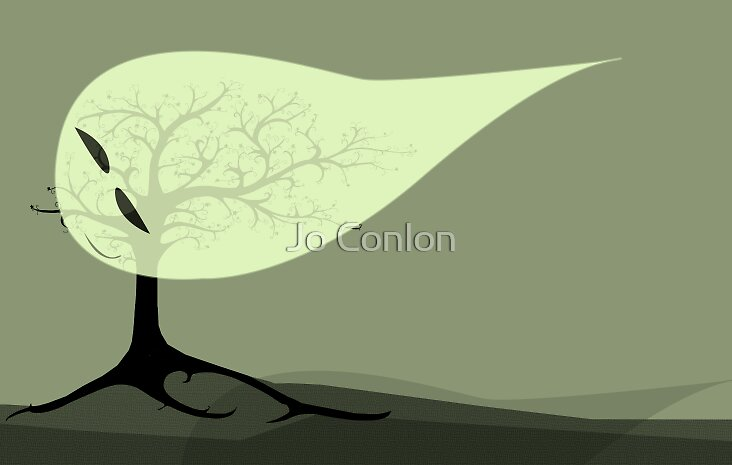 Smiles and leaves by Jo Conlon