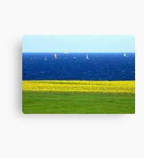 Remembering the Baltic Sea on a spring Sunday Canvas Print