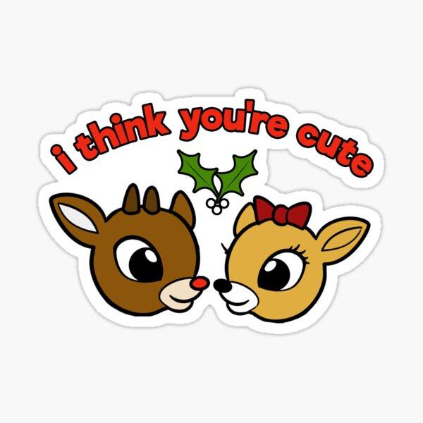 I Think You're Cute Sticker