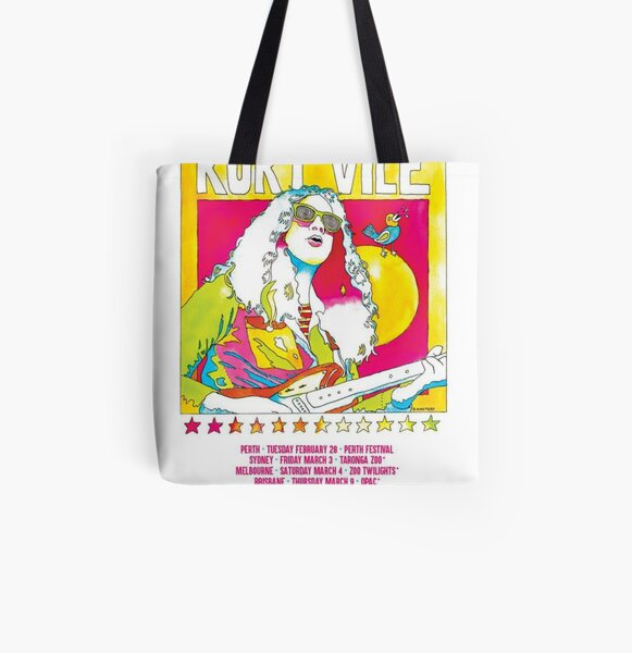 Kurt Vile - Tour Poster All Over Print Tote Bag