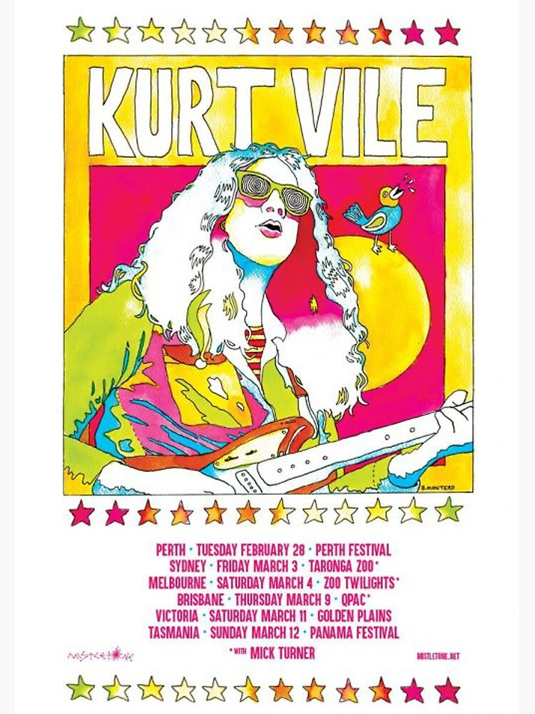 Kurt Vile - Tour Poster by onceqt