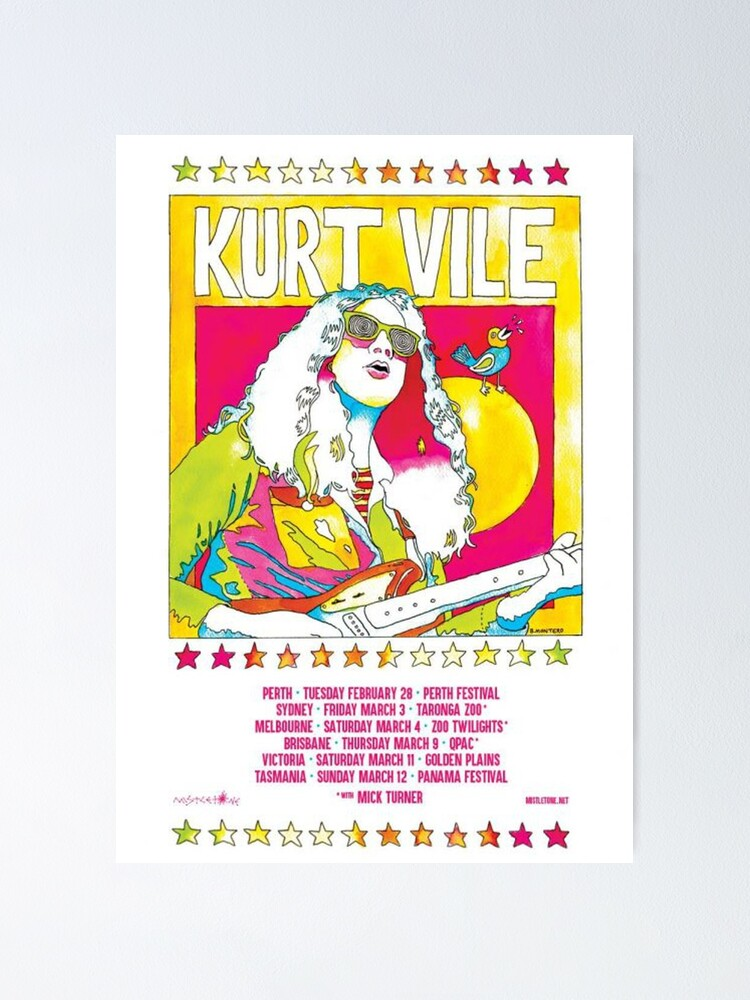 Alternate view of Kurt Vile - Tour Poster Poster