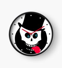 Funny Bones - Skull & Top Hat Clock