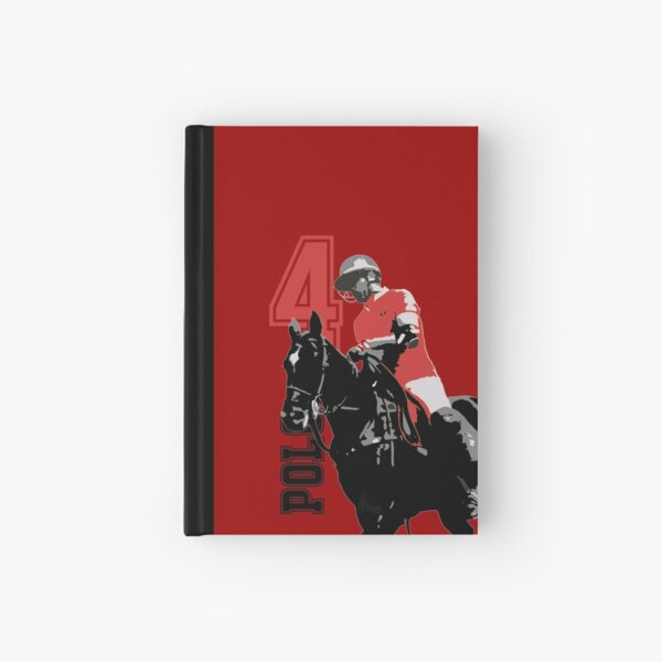 polo player red 4 Hardcover Journal