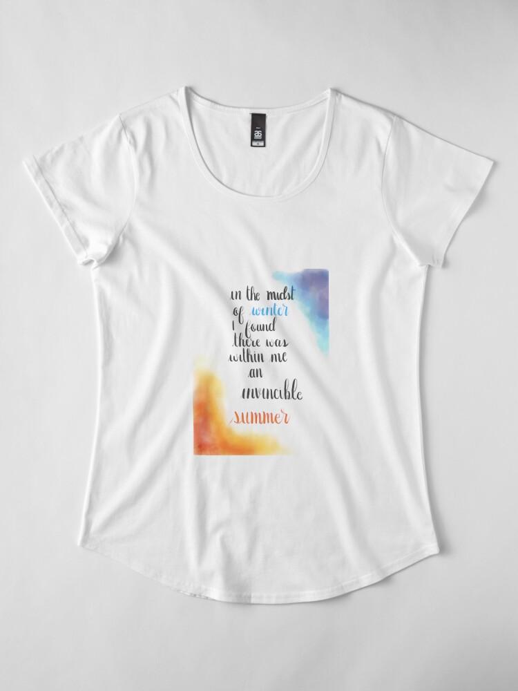 Alternative Ansicht von Albert Camus Zitat Premium Rundhals-Shirt
