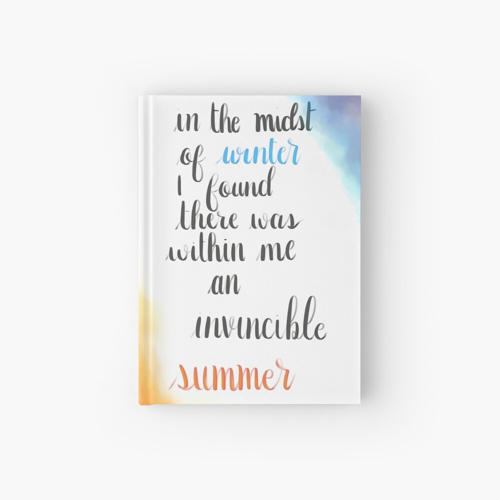 Albert Camus Zitat Notizbuch