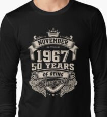 Born in November 1967 - 50 years of being awesome T-Shirt
