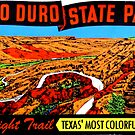 Palo Duro State Park Texas Vintage Travel Decal by hilda74