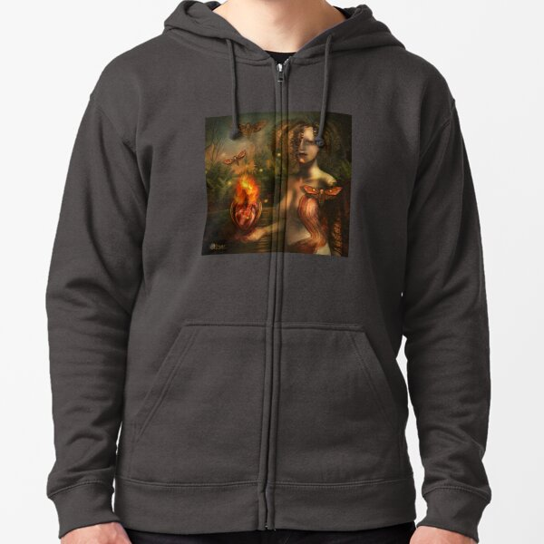 """""""Arcanum: The two paths"""" Zipped Hoodie"""